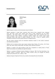 SPEAKER PROFILE - EVCA
