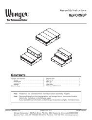 Owner's Manual - Wenger Corporation