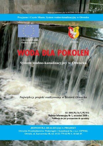 WODA DLA POKOLEŃ - Otwock, Urząd Miasta