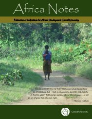 Fall 2011 Africa Notes - Institute for African Development - Cornell ...