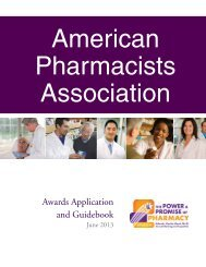Awards Application and Guidebook - American Pharmacists ...