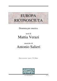 Europa riconosciuta - Fulmini e Saette