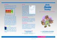 Flyer Kundenserviceverwaltung - Organisation, Programmierung ...