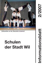 Schuljahresbeginn 2007/08 - Stadt Wil