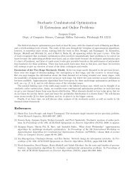 Stochastic Combinatorial Optimization II: Extensions and ... - LNMB