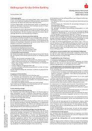 Bedingungen für das Online-Banking - Stadtsparkasse Remscheid