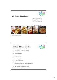 All about ethnic foods - Food a fact of life