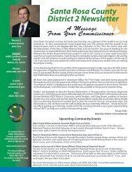 District 2 September 2009 Newsletter - Santa Rosa County