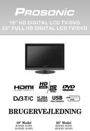 full hd digital lcd tv/dvd brugervejledning - UMC - Slovakia