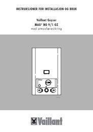 MAG installasjon og bruk - Vaillant