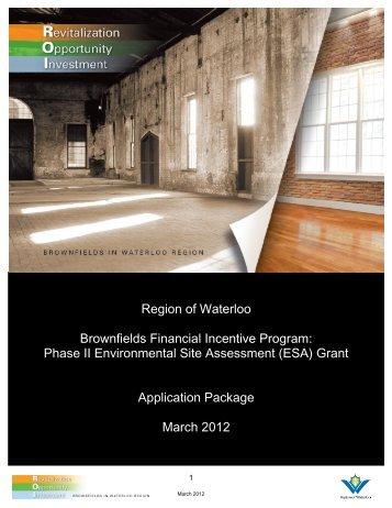Phase II Environmental Site Assessment - Region of Waterloo