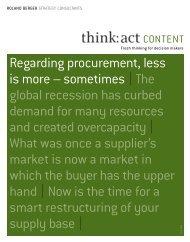 Regarding procurement, less is more – sometimes ... - Roland Berger