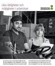Lika rättigheter och möjligheter i arbetslivet
