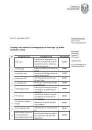 Se oversigt over, hvem der har modtaget tilskud 2013 - Aarhus.dk