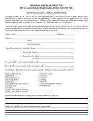 MERIDIAN SCHOOL DISTRICT 505 214 W. Laurel Rd., Bellingham ...