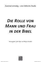 Die Rolle von Mann  und Frau in der Bibel - 3L Verlag