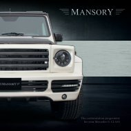 The customization programme for your Mercedes G-CLASS - Mansory