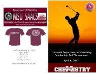 Tournament Brochure - Department of Chemistry