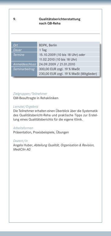 10 bis 18 Uhr - IQMG Institut für Qualitätsmanagement im ...