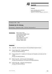 Protokoll der 29. Sitzung - Stadt Wil
