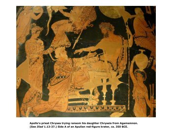Apollo's priest Chryses trying ransom his daughter Chryseis from ...