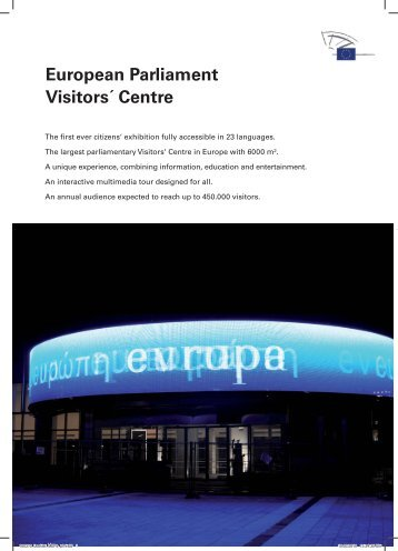 European Parliament Visitors´ Centre - VisitBrussels
