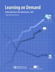 Learning on Demand - The Sloan Consortium