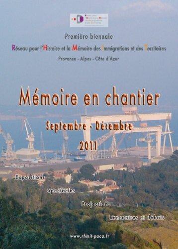 Brochure de la Biennale - Approches Cultures & Territoires