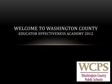 14 page PDF - Washington County, MD Public Schools
