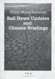 bali news updates and climate briefings - Third World Network