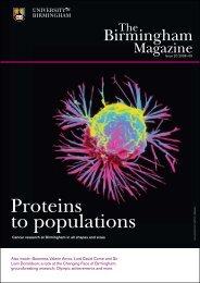 Proteins to populations - University of Birmingham