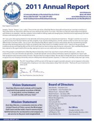2011 Annual Report - Back Bay Mission