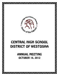Annual Meeting Booklet - Westosha Central High School