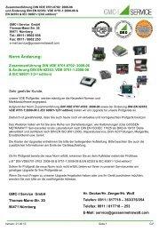 Norm Änderung: - GMC-I Service GmbH