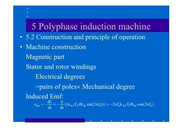 Poly-phase induction machine