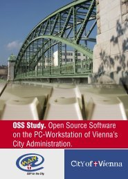 OSS Study. Open Source Software on the Pc-Workstation of - Wien