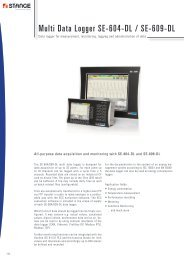 Multi Data Logger SE-604-DL / SE-609-DL - Stange Elektronik GmbH
