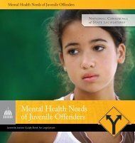 Mental Health Needs of Juvenile Offenders - Models for Change