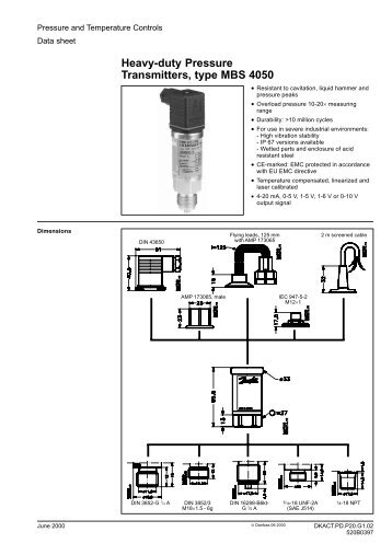 Danfoss Pressure Switch Wiring Diagram : Danfoss pressure transmitter mbs wiring diagram