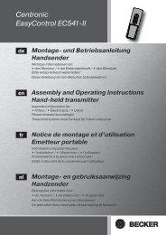 Becker Centronic EasyControl EC541 II Anleitung - auf enobi.de
