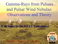 Gamma-ray and TeV Emission Properties of Pulsars and Pulsar ...