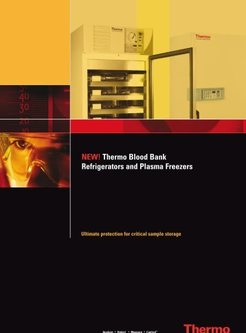 NEW! Thermo Blood Bank Refrigerators and Plasma Freezers