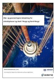 Olje- og gassnæringens betydning for arbeidsplasser og ... - Lederne