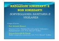 radiazioni ionizzanti e n.i. - Regione Campania