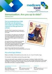 Immunisation - are you up to date.pdf - Tasmania Medicare Local