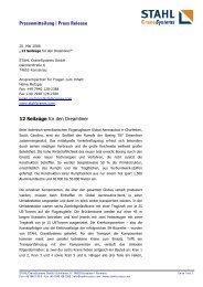 Pressemitteilung | Press Release 12 Seilzüge für den Dreamliner