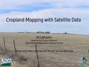 Cropland Mapping with Satellite Data - Water Education Foundation