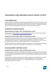 Laskuerittelyn uudet säännökset astuvat voimaan 1.6.2013 - TDC