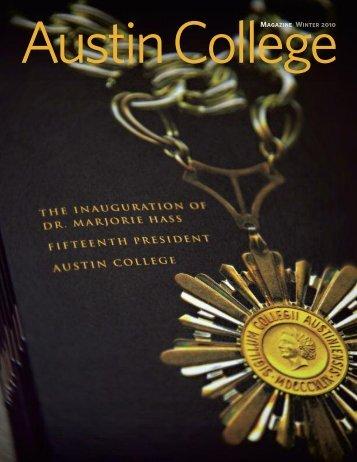 Magazine Winter 2010 - Austin College