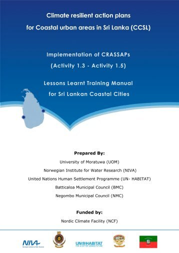 Climate resilient action plans for Coastal urban areas in Sri Lanka ...